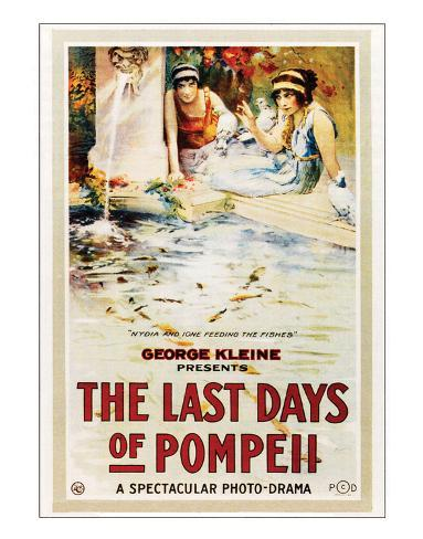 The Last Days Of Pompeii - 1913 Lámina giclée