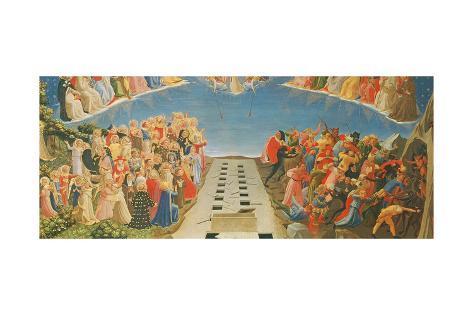 The Last Judgement, Altarpiece from Santa Maria Degli Angioli, C.1431 Lámina giclée