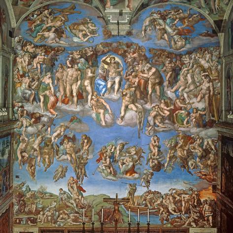 The Last Judgement, Sistine Chapel 1534-41 Lámina giclée