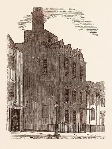 The Last London Residence of Sir Isaac Newton Giclee Print