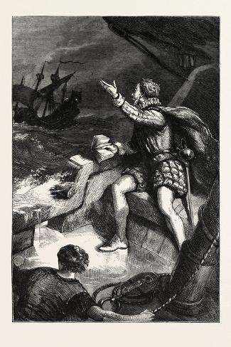 The Last Moments of Sir Humphrey Gilbert Giclee Print