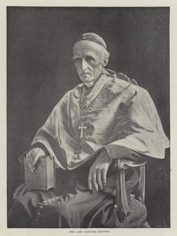 The Late Cardinal Manning Lámina giclée