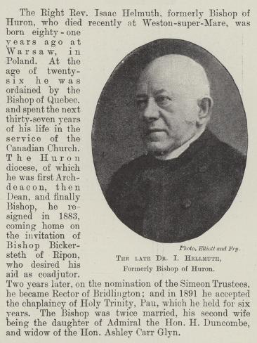 The Late Dr I Hellmuth, Formerly Bishop of Huron Lámina giclée
