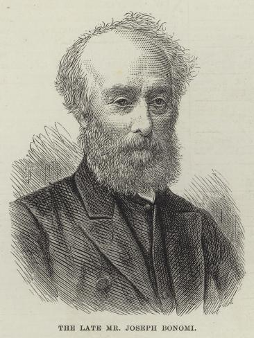 The Late Mr Joseph Bonomi Giclee Print