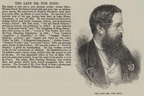 The Late Mr Tom Hood Giclee Print