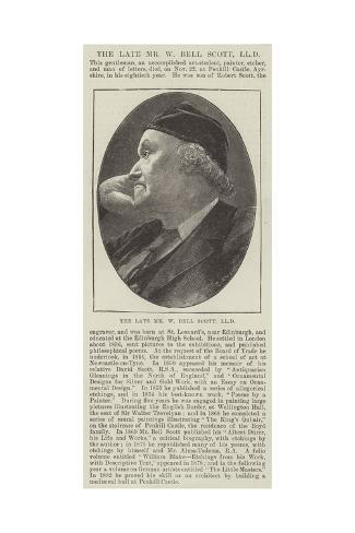 The Late Mr W Bell Scott Giclee Print