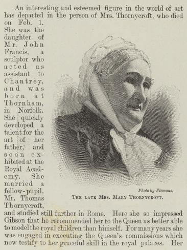 The Late Mrs Mary Thornycroft Giclee Print