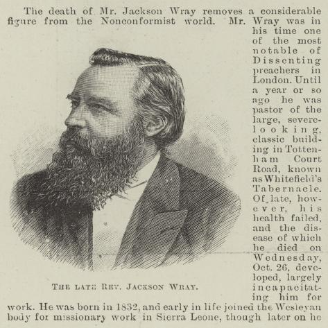 The Late Reverend Jackson Wray Lámina giclée