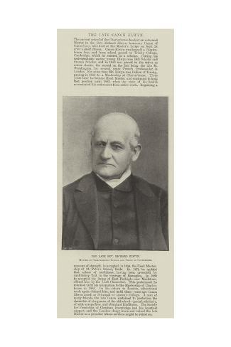The Late Reverend Richard Elwyn, Master of Charterhouse School and Canon of Canterbury Lámina giclée