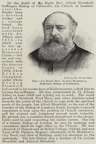 The Late Right Reverend Alfred Blomfield, Suffragan Bishop of Colchester Lámina giclée