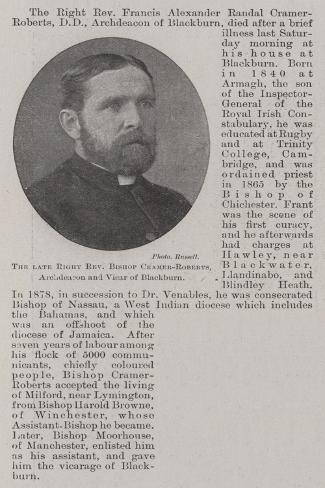 The Late Right Reverend Bishop Cramer-Roberts, Archdeacon and Vicar of Blackburn Lámina giclée