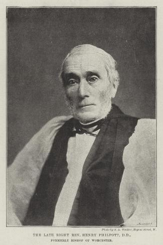 The Late Right Reverend Henry Philpott, Dd, Formerly Bishop of Worcester Lámina giclée