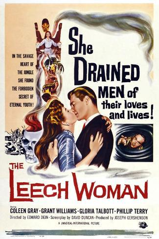 The Leech Woman, from Left: Coleen Gray, Grant Williams, 1960 Art Print