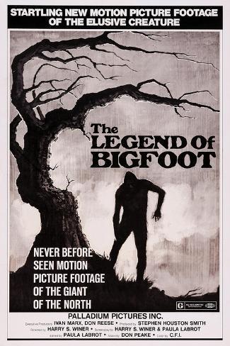 The Legend of Bigfoot, 1976 Art Print