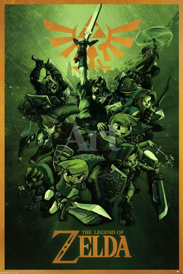 The Legend Of Zelda - Link Lámina en AllPosters.es