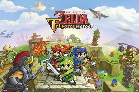 The Legend of Zelda- Triforce Heroes Poster