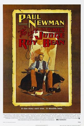 The Life and Times of Judge Roy Bean, US poster, Paul Newman, 1972 Stampa artistica
