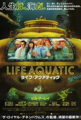 The Life Aquatic with Steve Zissou - Japanese Style Póster