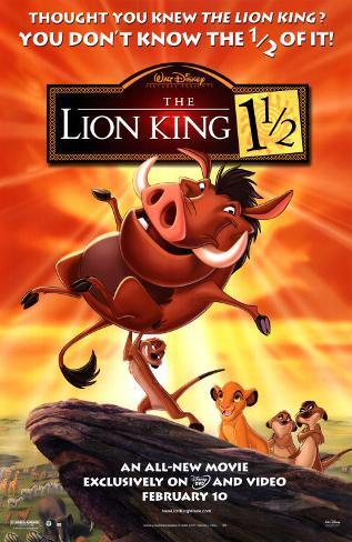 The Lion King 1-1/2 Original Poster