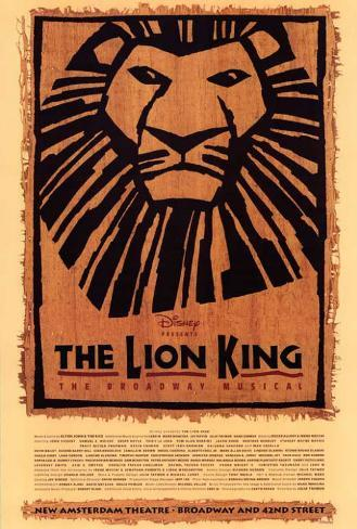 The Lion King (Broadway) Poster