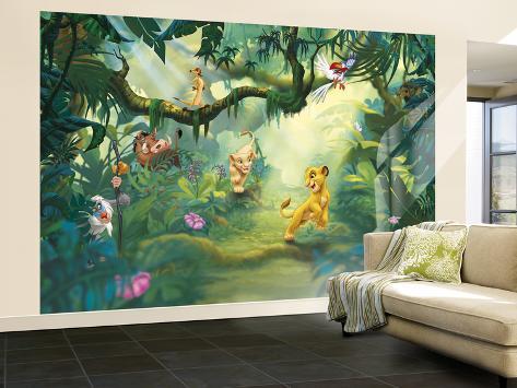The Lion King - Jungle Wallpaper Mural