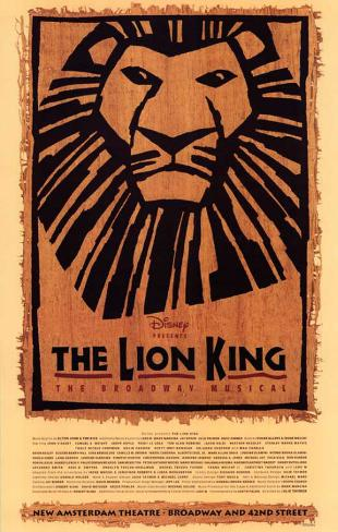 The Lion King The Broadway Musical - Broadway Poster Masterprint