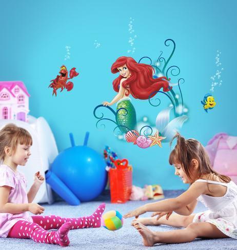 The Little Meramid - Ariel Decalcomania da muro