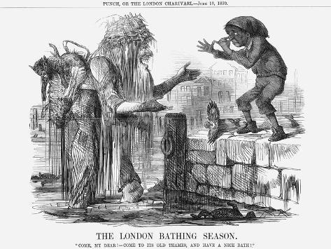 The London Bathing Season, 1859 Giclee Print