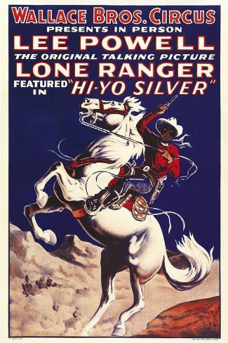 THE LONE RANGER, special circus poster, 1938. Art Print