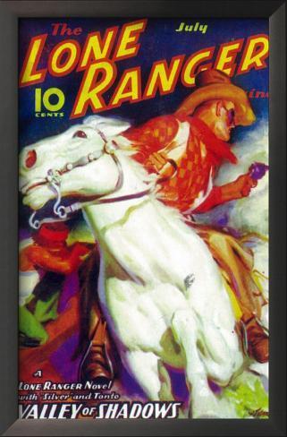 The Lone Ranger Impressão artística emoldurada