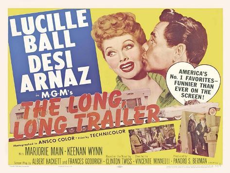 The Long Long Trailer, UK Movie Poster, 1954 Art Print