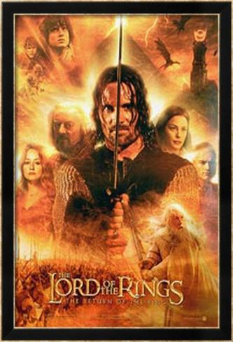 The Lord Of The Rings: The Return of the King Póster enmarcado