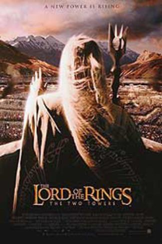 The Lord of The Rings: The Two Towers (Elijah Wood, Orlando Bloom, Viggo Mortensen) Movie Poster Poster double face