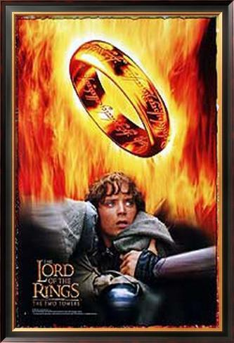 The Lord Of The Rings: The Two Towers Pôster emoldurado