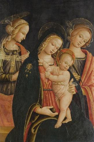The Madonna and Child with Two Female Saints, C.1500 Lámina giclée