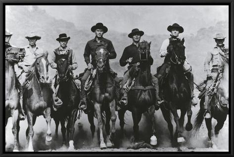 The Magnificent Seven Framed Canvas Print