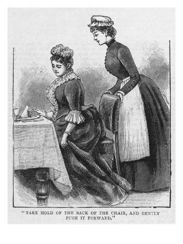The Maidservant Waiting at Table Lámina giclée