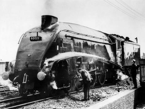 The Mallard Steam Train, World Record Holder for Steam Locomotives of 126 MPH in 1938 Photographic Print