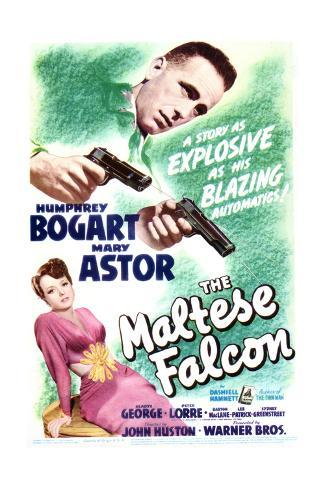 The Maltese Falcon - Movie Poster Reproduction Art Print