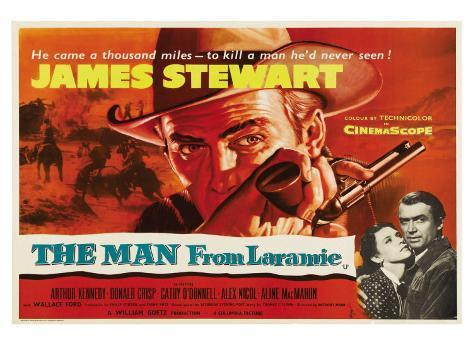 The Man From Laramie, UK Movie Poster, 1955 Art Print