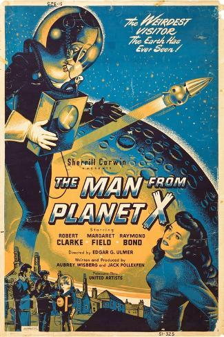 The Man From The Planet X, Pat Goldin, Margaret Field, 1951 Art Print