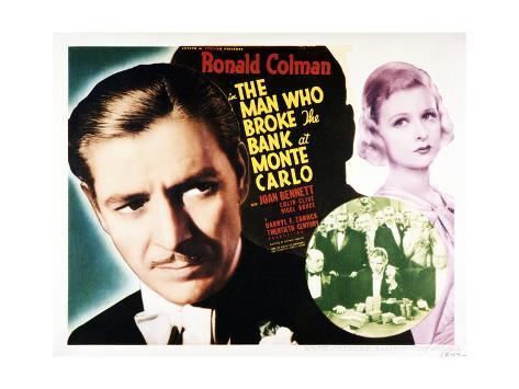 The Man Who Broke the Bank at Monte Carlo Art Print
