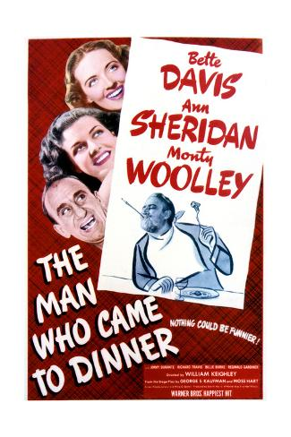 The Man Who Came to Dinner - Movie Poster Reproduction Art Print