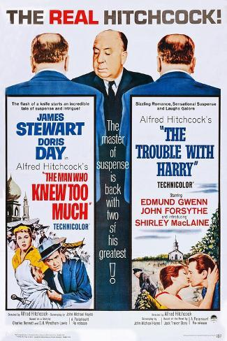 The Man Who Knew Too Much (On Double Bill Poster with the Trouble with Harry) Art Print