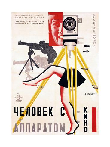 The Man with a Movie Camera, 1929 Gicléetryck