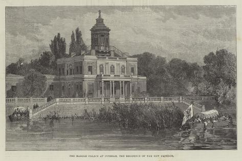 The Marble Palace at Potsdam, the Residence of the New Emperor Giclee Print