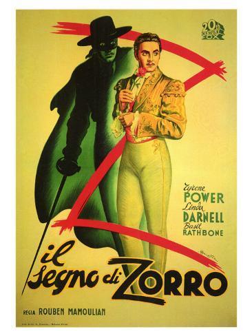 The Mark of Zorro, 1940 Premium Giclee Print