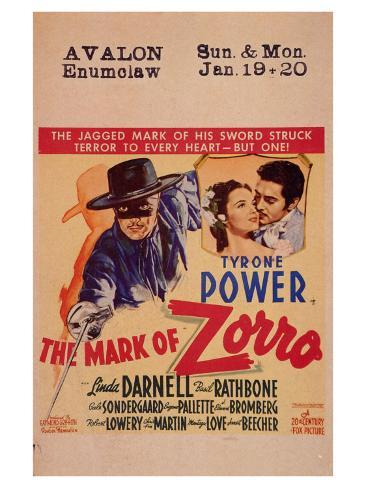 The Mark of Zorro, 1940 Art Print