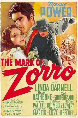 The Mark of Zorro (aka La Marca Del Zorro) Art Print