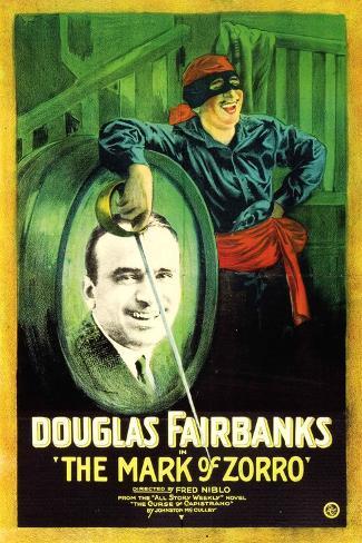 The Mark of Zorro Movie Douglas Fairbanks Poster Print Poster